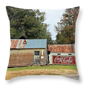 Old Buildings At Burnt Corn Throw Pillow by Lynn Jordan