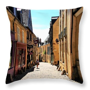 Old Buildings In France Throw Pillow