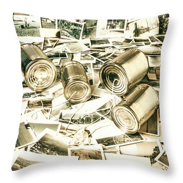 Old Business Wires Throw Pillow