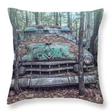 Old Caddy Throw Pillow