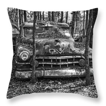 Old Cadillac Throw Pillow