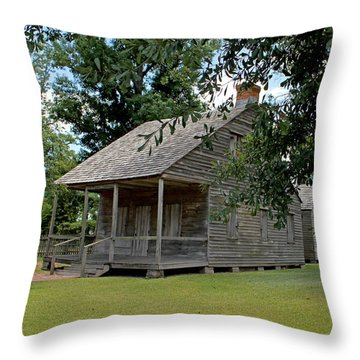 Throw Pillow featuring the photograph Old Cajun Home by Judy Vincent