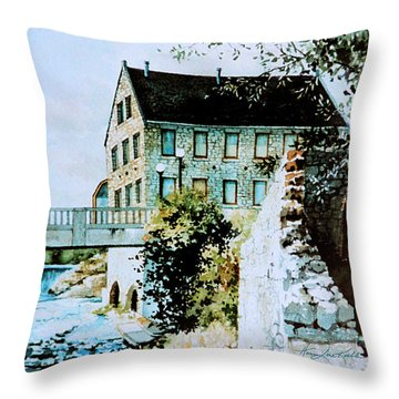Old Cambridge Mill Throw Pillow by Hanne Lore Koehler