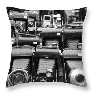 Old Cameras Throw Pillow
