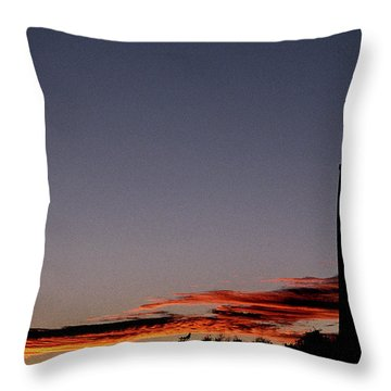 Old Cape Henry Sunrise Throw Pillow