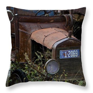 Old Car Throw Pillow by Anthony Jones