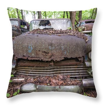 Old Car City In Color Throw Pillow