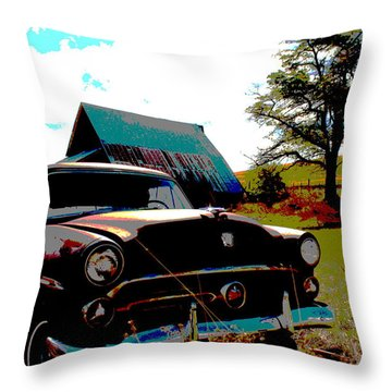 Old Car Throw Pillow by Jean Evans