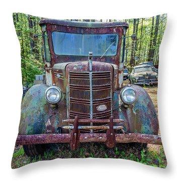Old Car Smile Throw Pillow