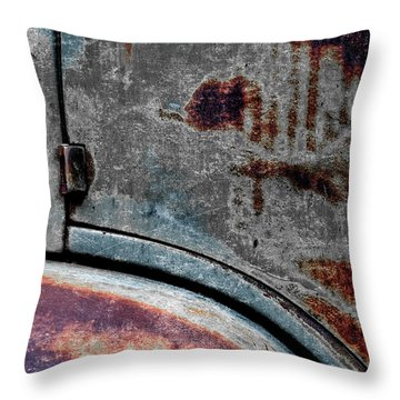 Throw Pillow featuring the photograph Old Car Weathered Paint by Carol Leigh