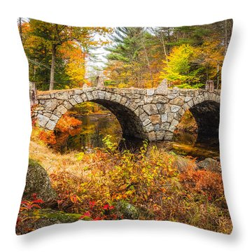 Old Carr Bridge Throw Pillow
