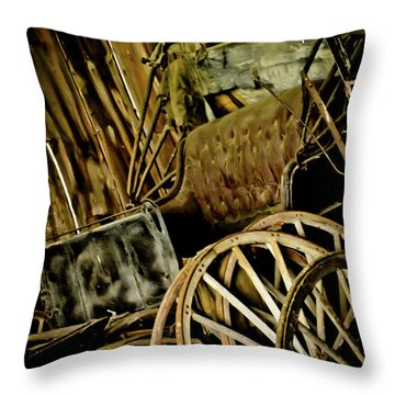 Throw Pillow featuring the photograph Old Carriage by Joann Copeland-Paul