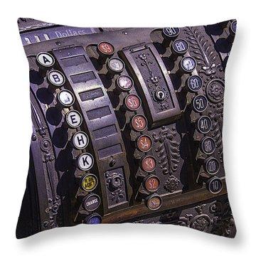 Old Cash Register Throw Pillow