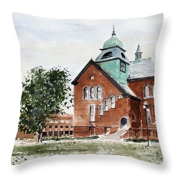 Oklahoma State University Old Central Throw Pillow