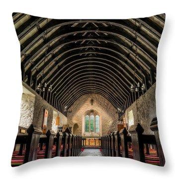 Old Chapel Throw Pillow