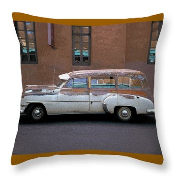 Old Chevy Throw Pillow by Jim Mathis