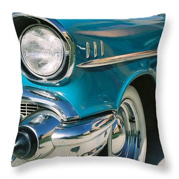 Throw Pillow featuring the photograph Old Chevy by Steve Karol