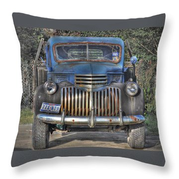 Throw Pillow featuring the photograph Old Chevy Truck by Savannah Gibbs