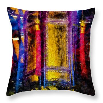 Throw Pillow featuring the photograph Old Chinese Palace Lantern by Joseph Hollingsworth