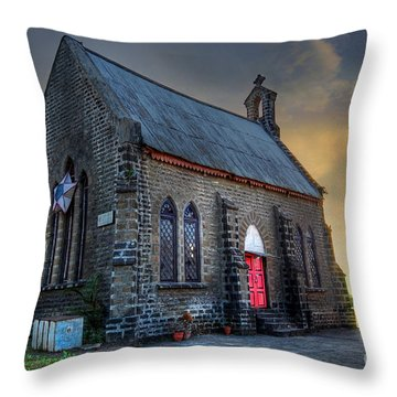 Old Church Throw Pillow by Charuhas Images