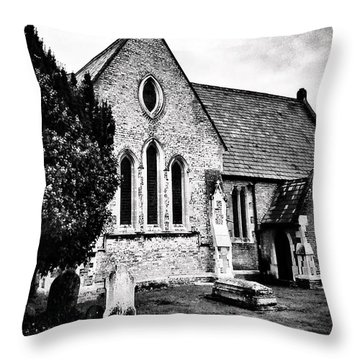 Old Church Throw Pillow by Andrew Hunter
