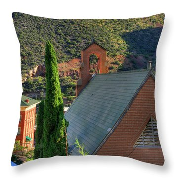 Old Church In Bisbee Throw Pillow