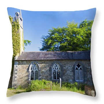 Old Church Ireland Day 8 Throw Pillow