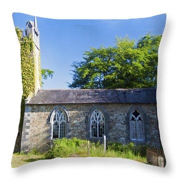 Old Church Ireland Day 8 Throw Pillow