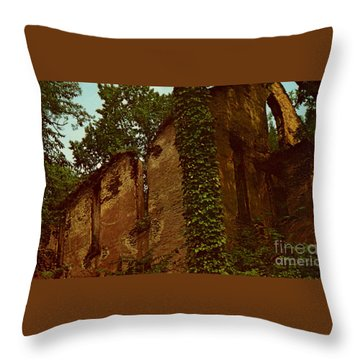 Old Church Ruins  Throw Pillow by Ruth  Housley