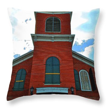 Throw Pillow featuring the photograph Old City Hall Key West by Jost Houk