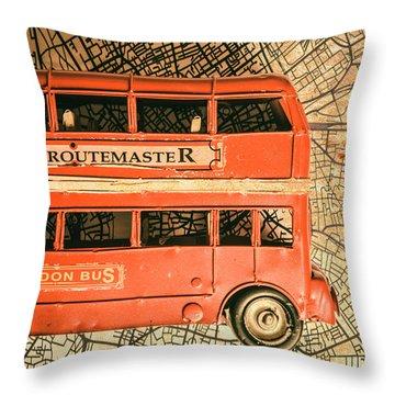 Old City Transit Throw Pillow