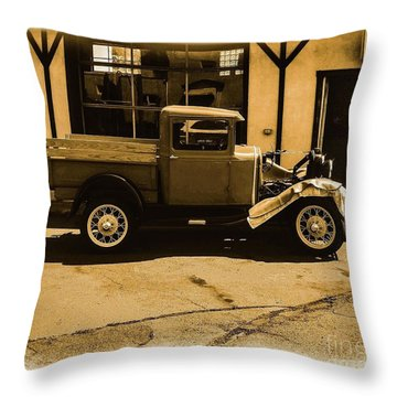 Old Classic Shop Throw Pillow