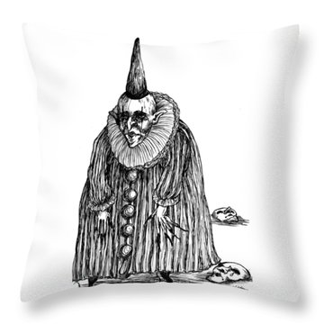 Old Clown Throw Pillow