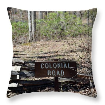 Old Colonial Road Throw Pillow by Bruce Gourley