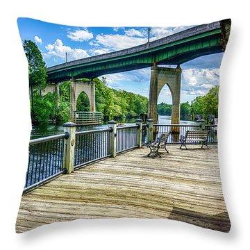 Old Conway Bridge Throw Pillow
