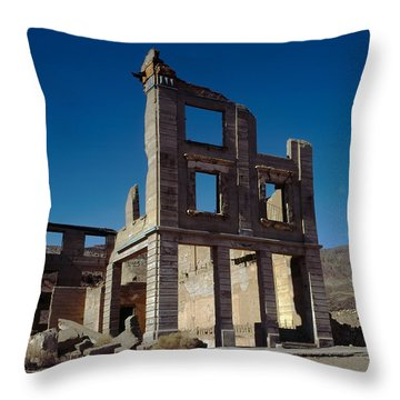 Old Cook Bank Building Throw Pillow