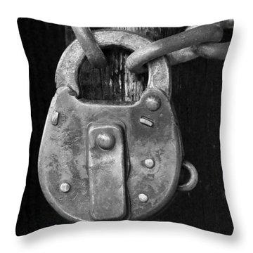 Old Corbin Padlock Throw Pillow