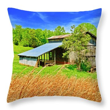 Old Country Barn Throw Pillow