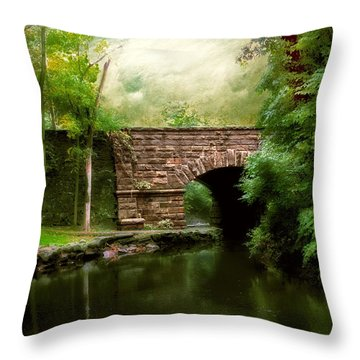 Old Country Bridge Throw Pillow