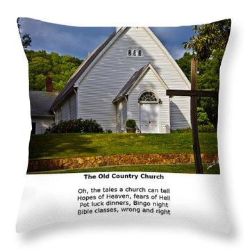 Old Country Church Throw Pillow by John Haldane