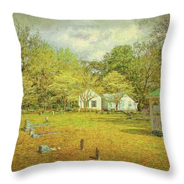 Throw Pillow featuring the photograph Old Country Church by Lewis Mann