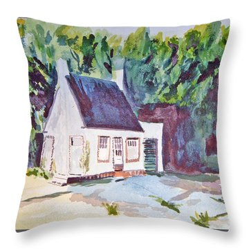 Former Old Country Gas Station Throw Pillow
