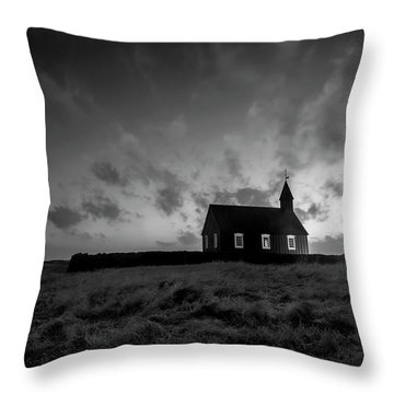 Old Countryside Church In Iceland Throw Pillow by Joe Belanger