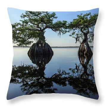 Old Couple Throw Pillow