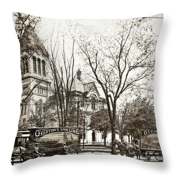 Old Courthouse Public Square Wilkes Barre Pa Late 1800s Throw Pillow