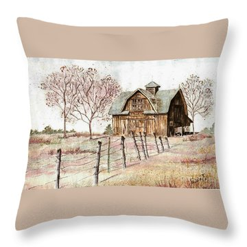 Old Crawford Colorado Barn Throw Pillow