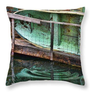 Old Crusty Dinghy Throw Pillow