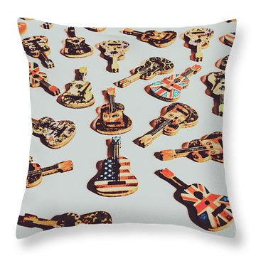 Old Days Of Rock N Roll Throw Pillow