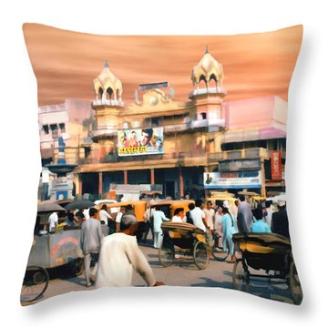 Old Dehli Throw Pillow
