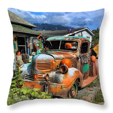 Old Dodge Throw Pillow by John Bushnell